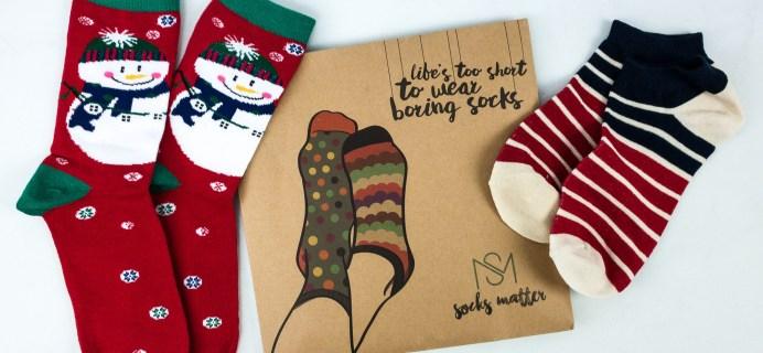 Socks Matter December 2019 Subscription Box Review + Coupon