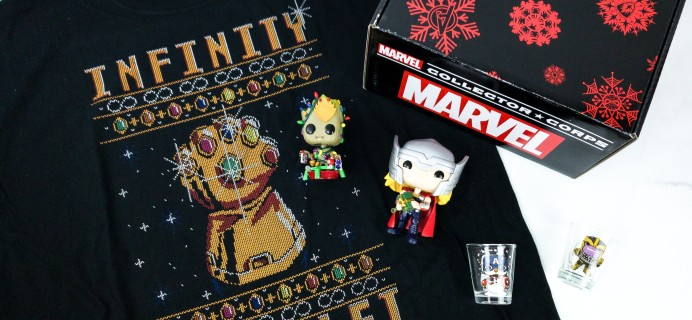 Marvel Collector Corps November 2019 Subscription Box Review – MARVEL HOLIDAY