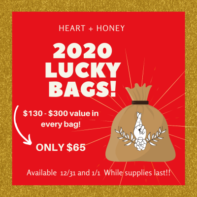 Heart + Honey Lucky Bags Available Now!