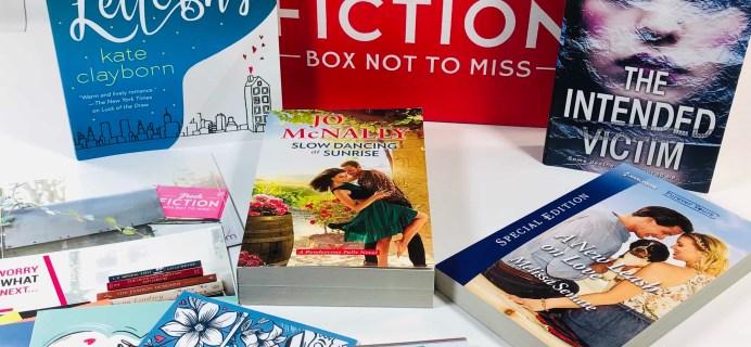 Fresh Fiction Box January 2020 Subscription Box Review + Coupon