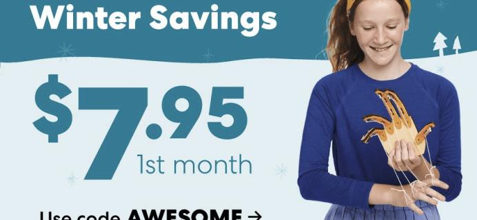 KiwiCo New Year's Sale: First Box $7.95!