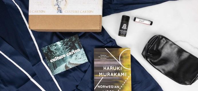 Culture Carton December 2019 Subscription Box Review + Coupon