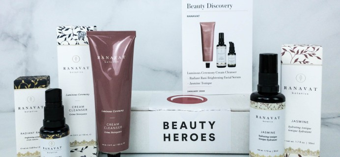 Beauty Heroes January 2020 Subscription Box Review