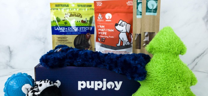 PupJoy December 2019 Subscription Box Review + Coupon