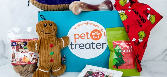 Pet Treater Deluxe Dog Pack December 2019 Subscription Box Review + Coupon