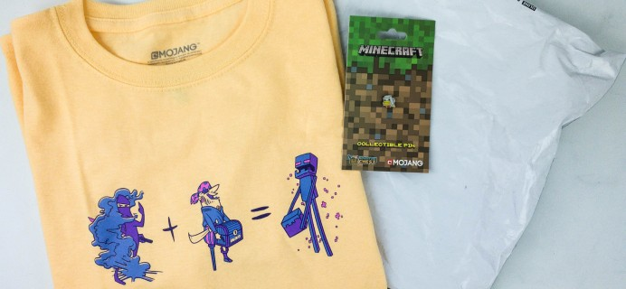 Minecraft T-Shirt Club January 2020 Subscription Box Review
