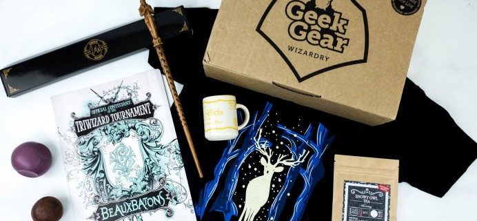 Geek Gear World of Wizardry December 2019 Subscription Box Review & Coupon