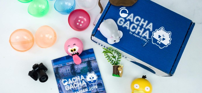 Gacha Gacha Crate December 2019 Subscription Box Review + Coupon