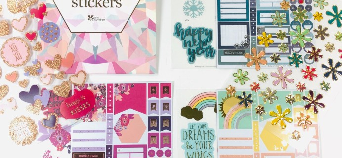 Erin Condren Sticker Club Winter 2019 Subscription Box Review
