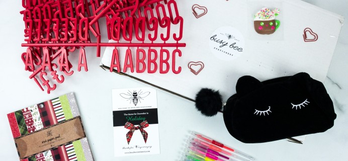 Busy Bee Stationery December 2019 Subscription Box Review
