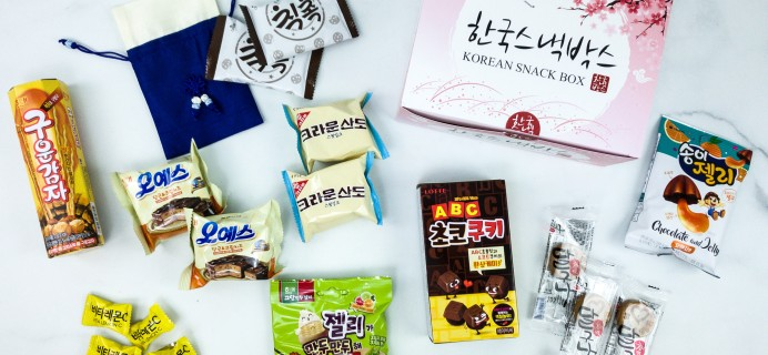 Korean Snack Box December 2019 Subscription Box Review + Coupon