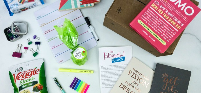 The Introverted Chick January 2020 Subscription Box Review + Coupon