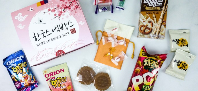 Korean Snack Box January 2020 Subscription Box Review + Coupon