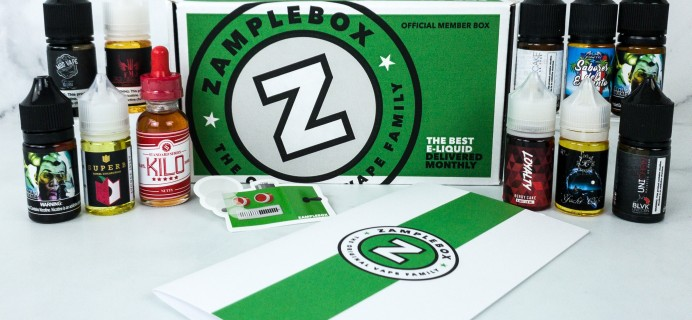 ZampleBox E-Juice January 2020 Subscription Box Review & Coupon
