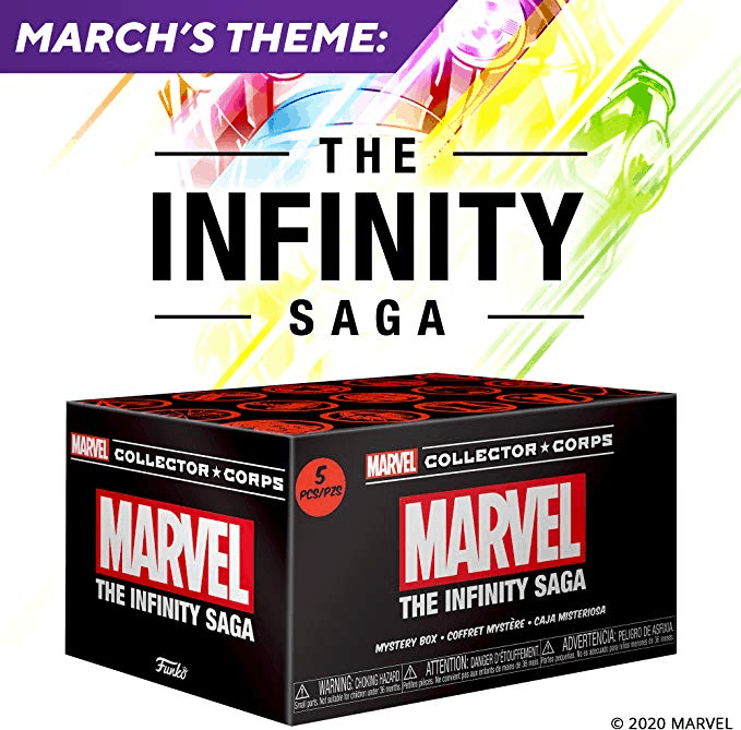 MCC Funko Marvel Collector Corps Infinity Saga 3XL Star-Lord Black Panther GITD