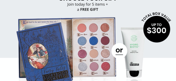 BOXYCHARM Coupon: FREE Dr. Brandt Mask OR Storybook Cosmetics Palette with February 2020 Box!