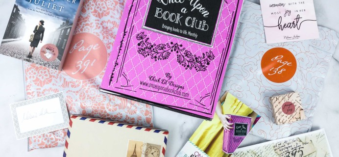 Once Upon a Book Club January 2020 Subscription Box Review + Coupon – Adult Box