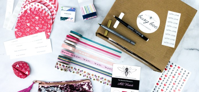 Busy Bee Stationery February 2020 Subscription Box Review