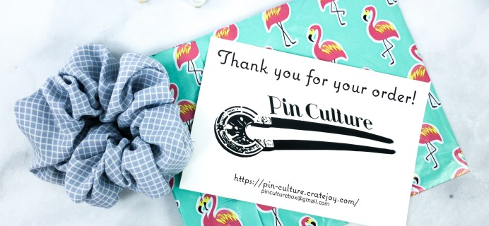 Pin Culture Subscription Box Review + Coupon – January 2020 Scrunchie & Earrings Box
