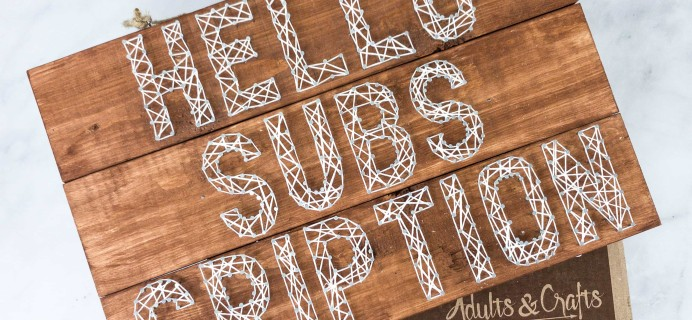 Adults & Crafts Subscription Box Review + Coupon – STRING ART WOOD SIGN KIT