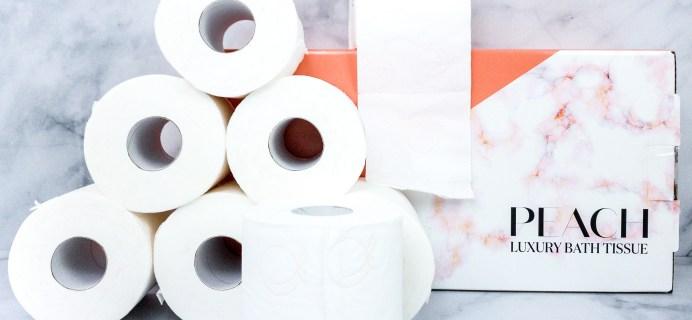 Peach Luxury Bath Tissue Subscription Box Review