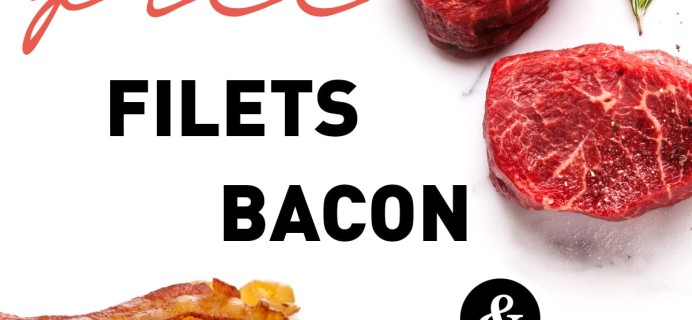 ButcherBox Deal: FREE Filet Mignon, Bacon & $10 OFF!