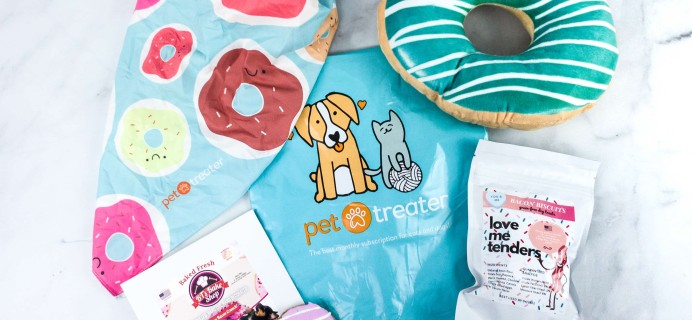 Pet Treater Dog Pack February 2020 Subscription Box Review + Coupon