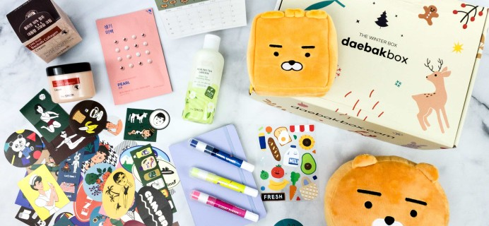 Daebak Box Winter 2019-2020 Subscription Box Review + Coupon