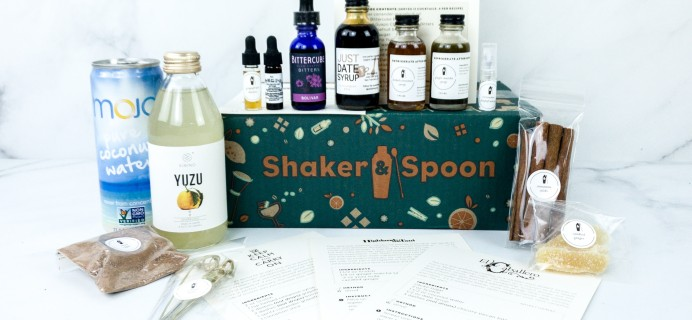 Shaker & Spoon Subscription Box Review & Coupon – Scotchtember