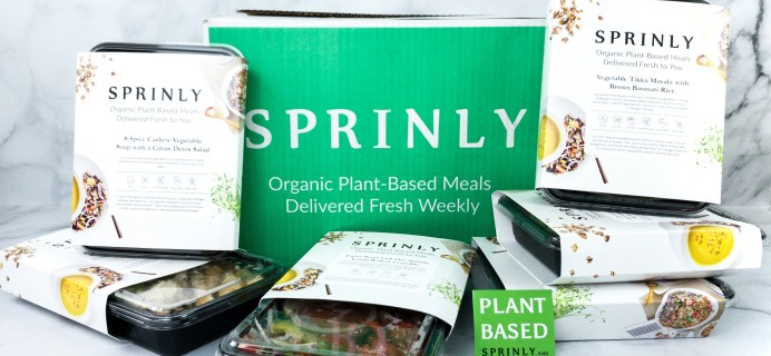 Sprinly Plant-Forward Meal Box Review + Coupon!
