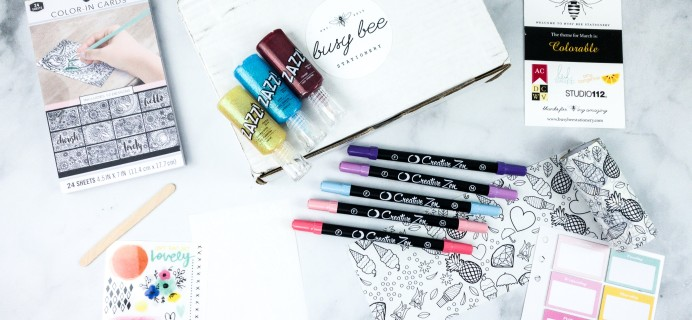 Busy Bee Stationery March 2020 Subscription Box Review