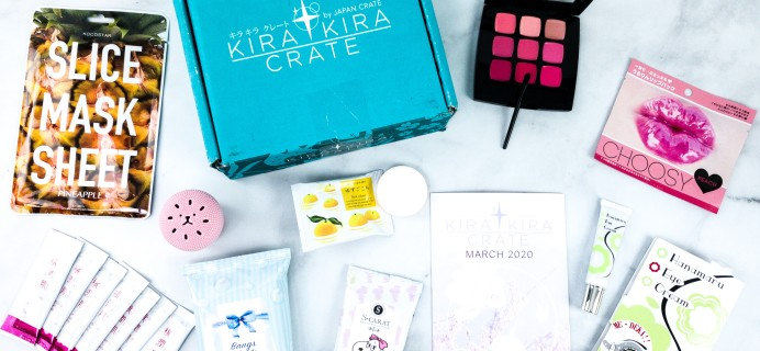 Kira Kira Crate March 2020 Subscription Box Review + Coupon