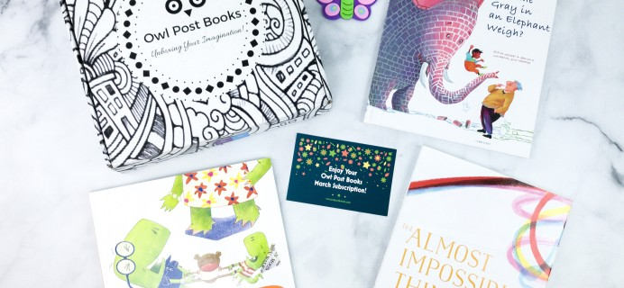 Owl Post Books Imagination Box March 2020 Subscription Box Review + Coupon