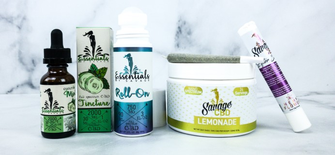 Savage CBD March 2020 Subscription Box Review + Coupon