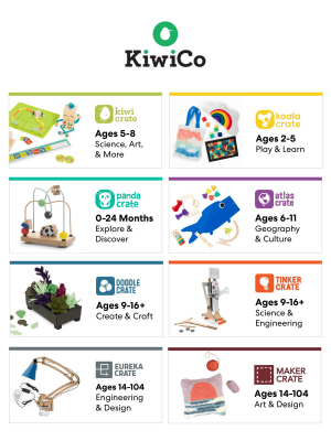 KiwiCo Sale: Get First Month FREE!