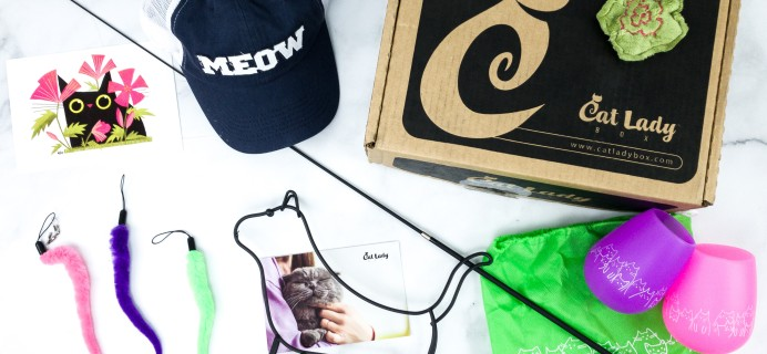 Cat Lady Box April 2020 Subscription Box Review – GARDEN PAWTY