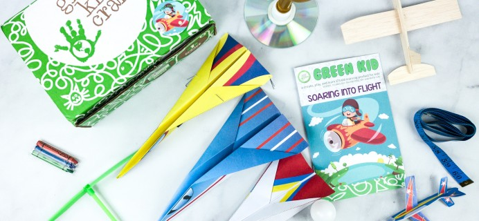 Green Kid Crafts SOARING INTO FLIGHT Subscription Box Review + 50% Off Coupon!