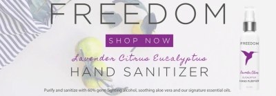 Freedom Hand Sanitizer – Subscriptions Available + Coupon!