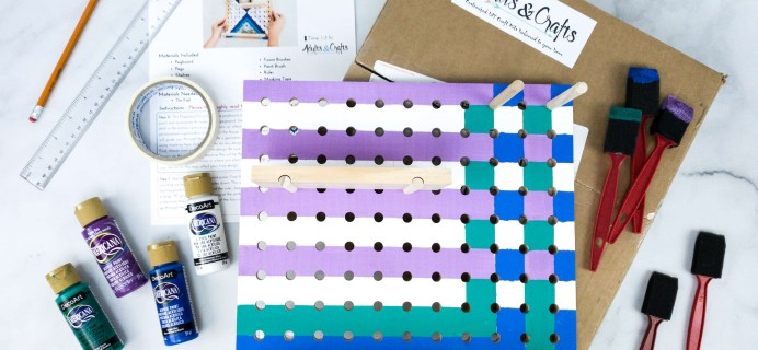 Adults & Crafts Subscription Box Review + Coupon – PEGBOARD KIT