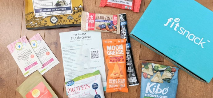 FitSnack March 2020 Subscription Box Review