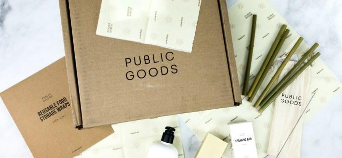 Public Goods April 2020 Subscription Box Review + Coupon