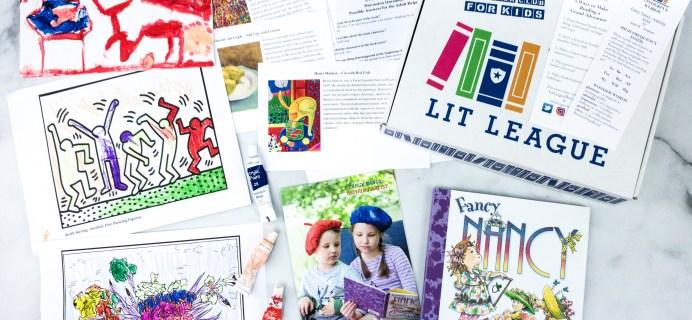 Lit League Subscription Box Review + Coupon – FANCY NANCY Box