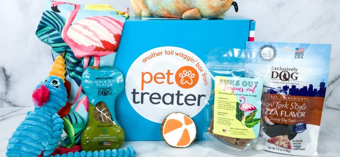 Pet Treater Deluxe Dog Pack March 2020 Subscription Box Review + Coupon