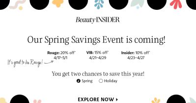 Sephora Spring 2020 Sale Almost Here: Save Up To 20% Off SITEWIDE!