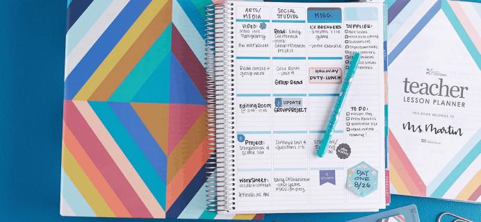 Erin Condren Teacher Collection & Lesson Planners Available Now + Coupon!