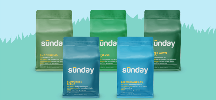 Sunday Grass Seed Blends Available Now + Coupon!