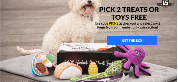 BoxDog Coupon: Get 2 FREE Toys OR Treats!