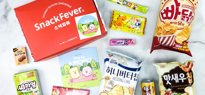 Snack Fever April 2020 Subscription Box Review + Coupon – Original Box!
