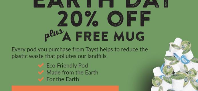 Tayst Coffee Earth Day Coupon: Get 20% Off + FREE Mug!