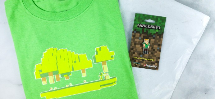 Minecraft T-Shirt Club April 2020 Subscription Box Review + Coupon!